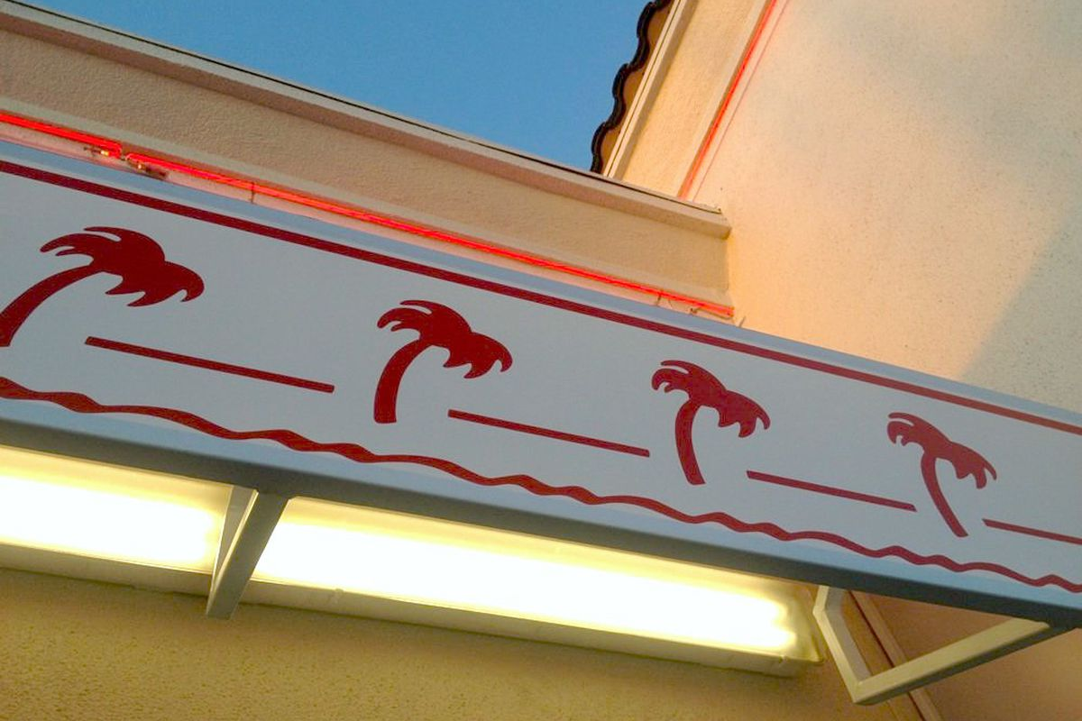 Signage at the In-N-Out in Downey, CA