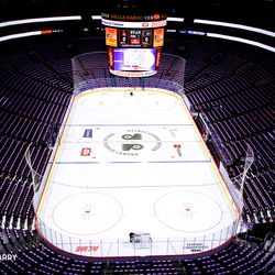 Hockey Fights Cancer. The sea of purple towels 2017