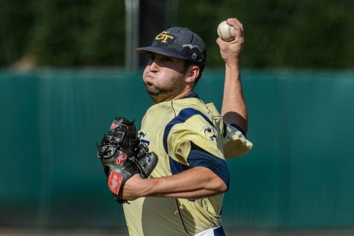 """The Yellow Jackets won, in part, due to """"Trusty"""" Dusty's 5.0 shutout innings."""