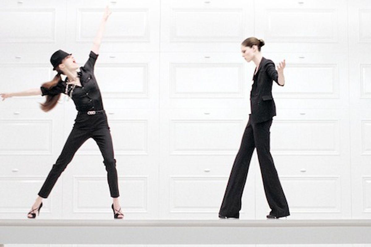 Coco Rocha Demonstrates White House Black Market\'s Modular Workwear ...