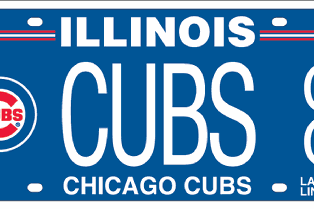 MLB Team License Plates: Would You Get One? - Bleed Cubbie Blue