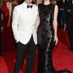 Gary Oldman (Prada) and Alexandra Oldman (Miu Miu)