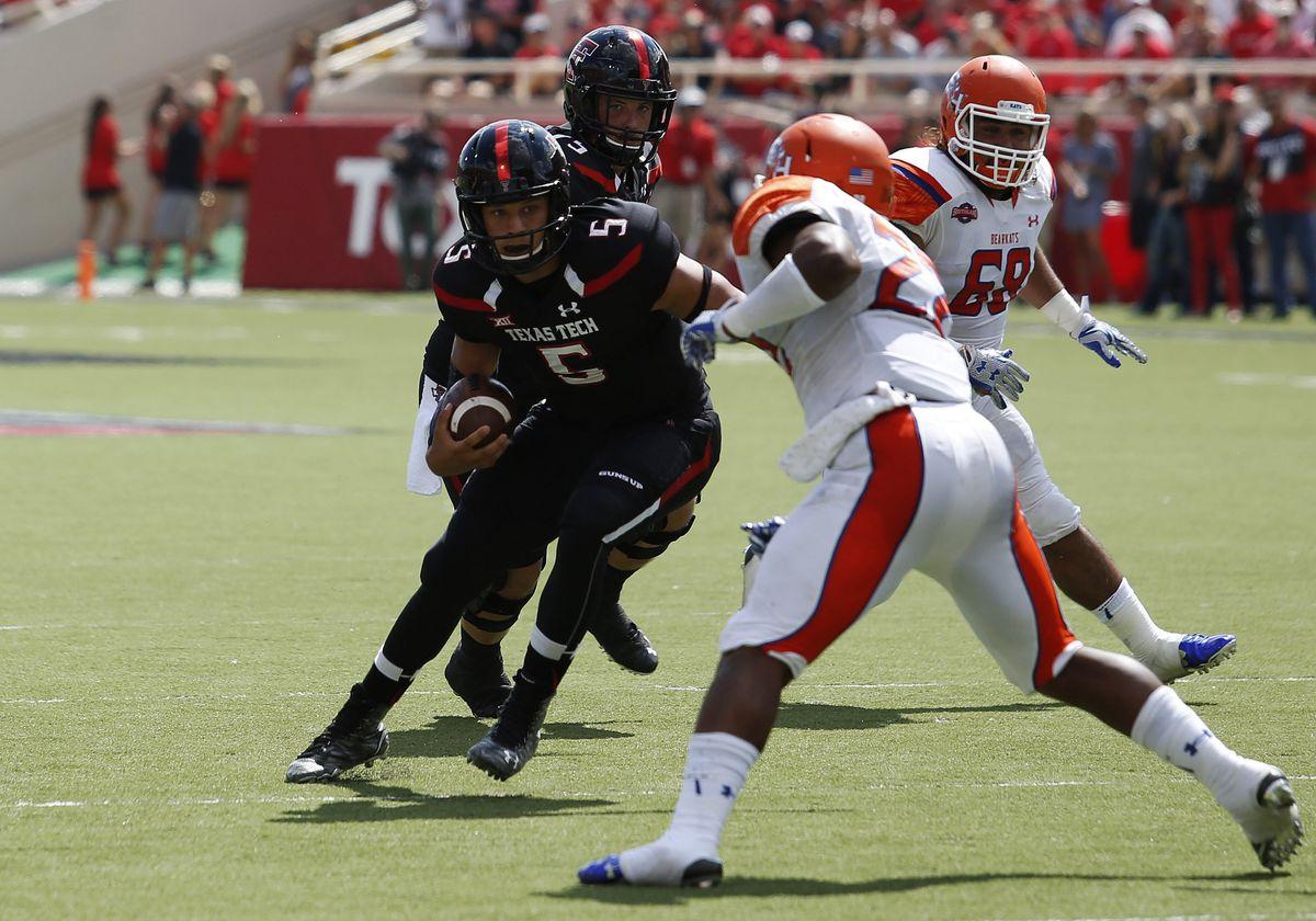 NCAA FOOTBALL: SEP 05 Sam Houston State at Texas Tech
