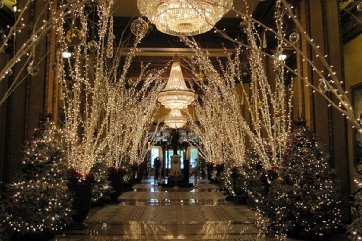 The famous Christmas decorations at the Roosevelt Hotel, 2009.