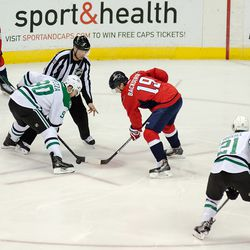 Spezza and Backstrom Faceoff