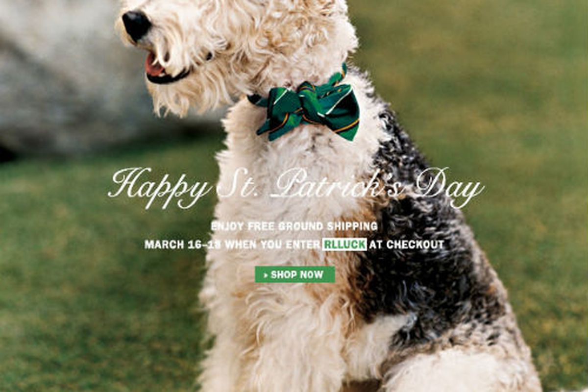 This Ralph Lauren ad wins our award for most adorable St. Patrick's Day email of 2012