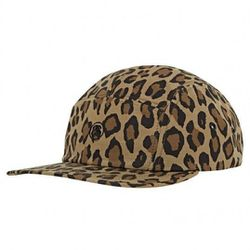 """<strong>Stussy</strong> Deluxe Military Camp in Leopard Camo, <a href=""""http://www.stussy.com/us/deluxe-military-camo-camp-hat"""">$48</a>"""
