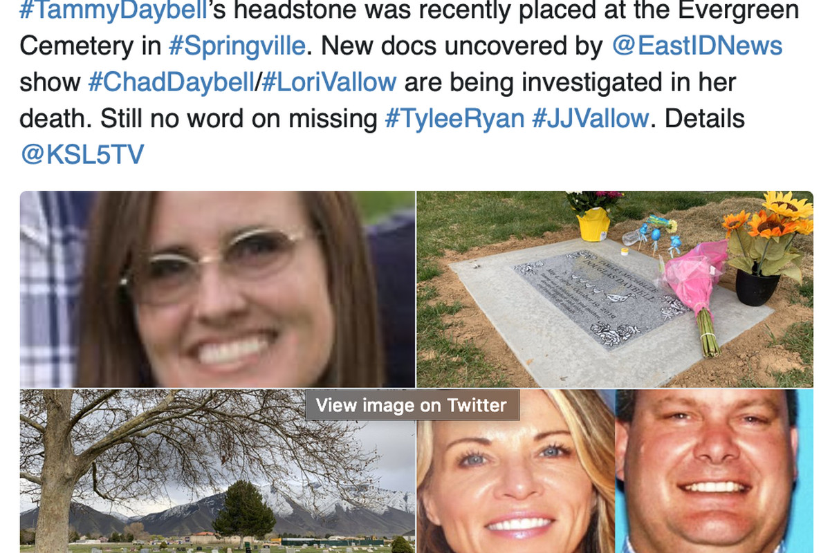 A new headstone has been placed for Tammy Daybell almost six months after she passed away in October. The headstone has a huge duck on it with five little ducklings right after.