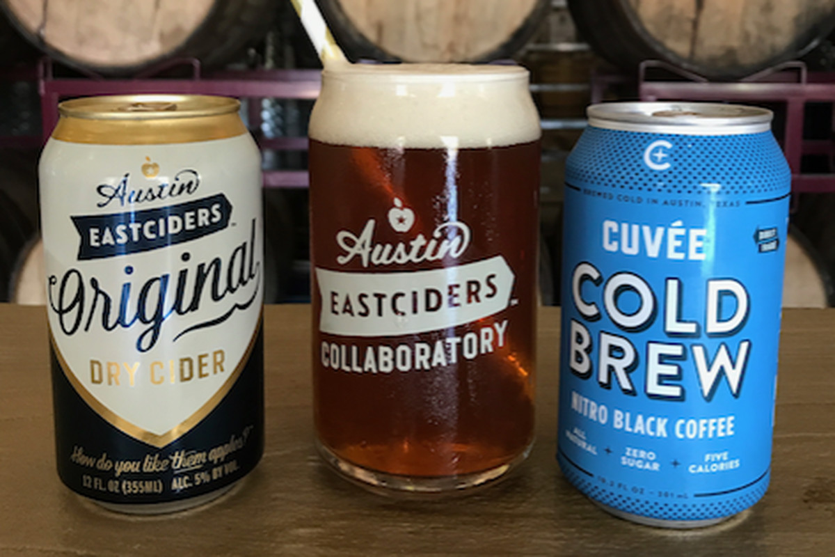 Cold brew cider from Austin Eastciders and Cuvée Coffee