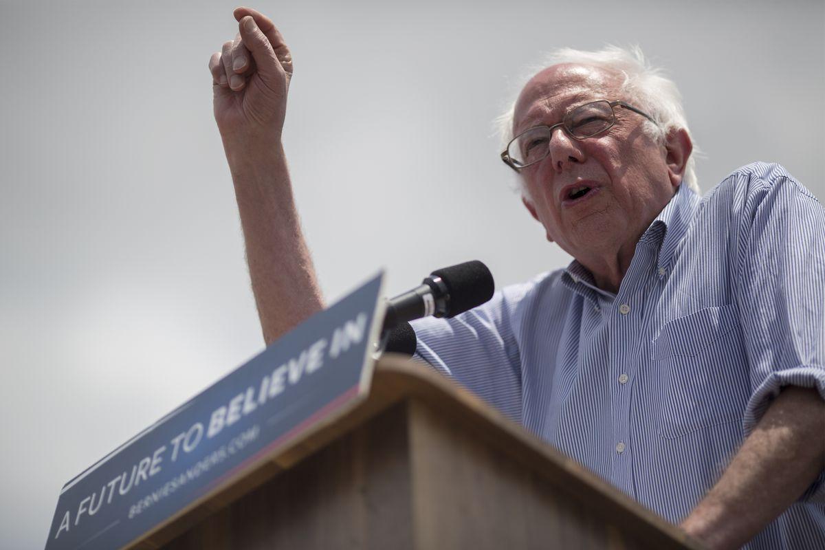 Bernie Sanders Campaigns In East Los Angeles