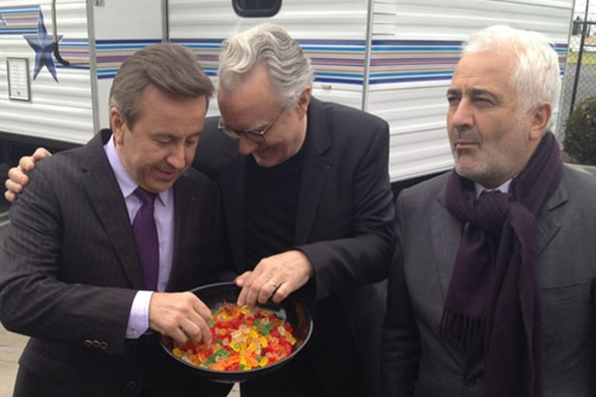 Daniel Boulud, Alain Ducasse and Guy Savoy