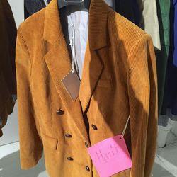 Corduroy blazer, $150