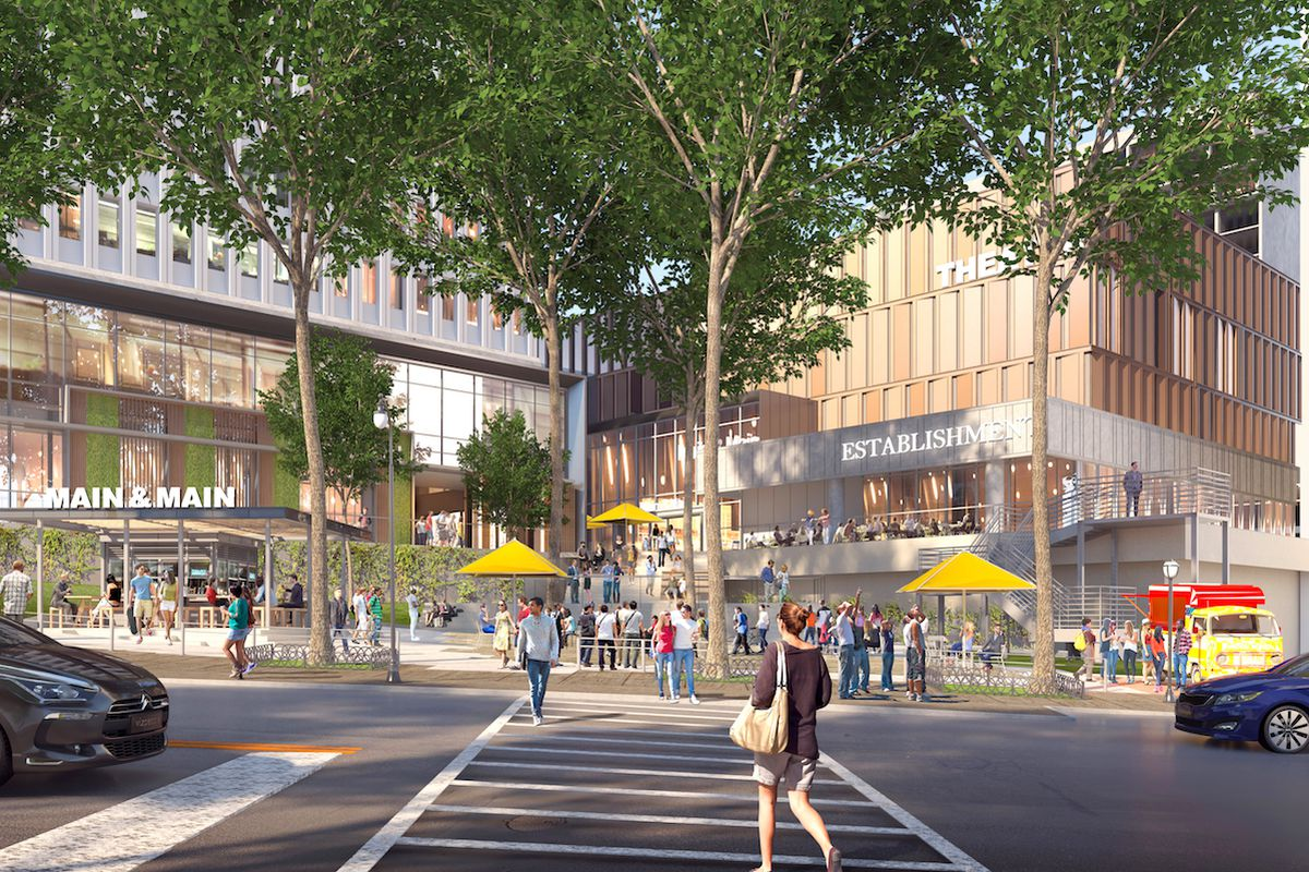 Rendering of former Main and Main food hall now called Politan Row at Colony Square Atlanta