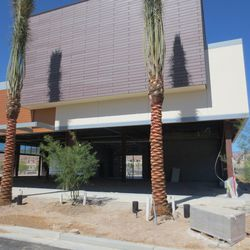 An unnamed restaurant on the north side of Downtown Summerlin, across from Red Rock Resort to the north.