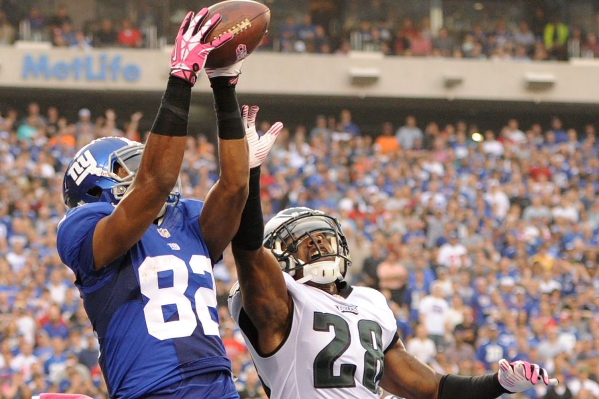 Rueben Randle high points the ball for a touchdown
