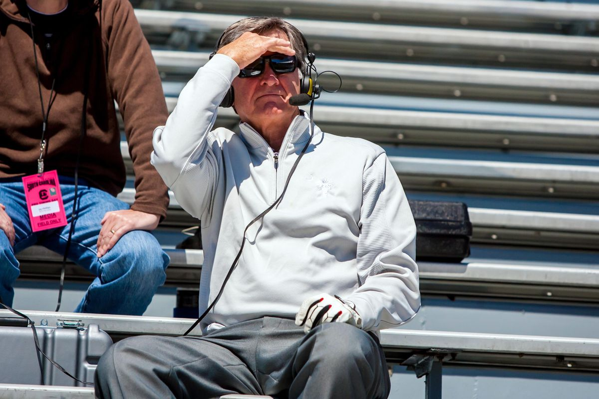 Spurrier really does enjoy the view from seat 37f.