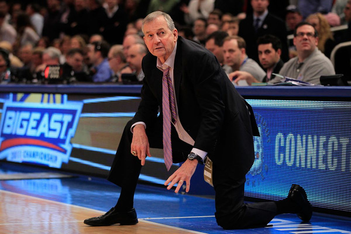 Contrary to visual evidence, Jim Calhoun is allowed to keep his seat at UConn games.  Unless the NCAA says he can't be in the building, of course.