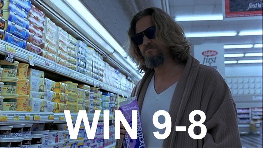 WIN, 9-8