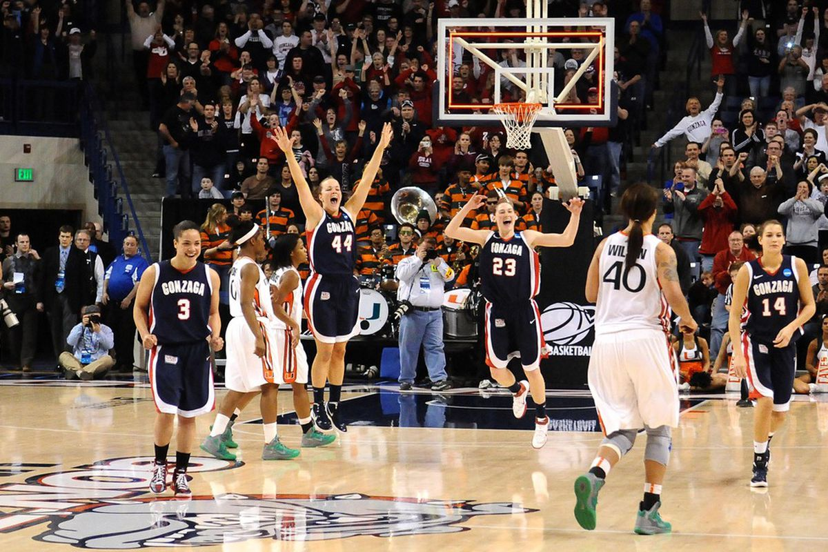 The Gonzaga Bulldogs are the last double-digit seeded team alive to try to keep those Cinderella slippers on the dance floor. (Credit: James Snook-US PRESSWIRE)