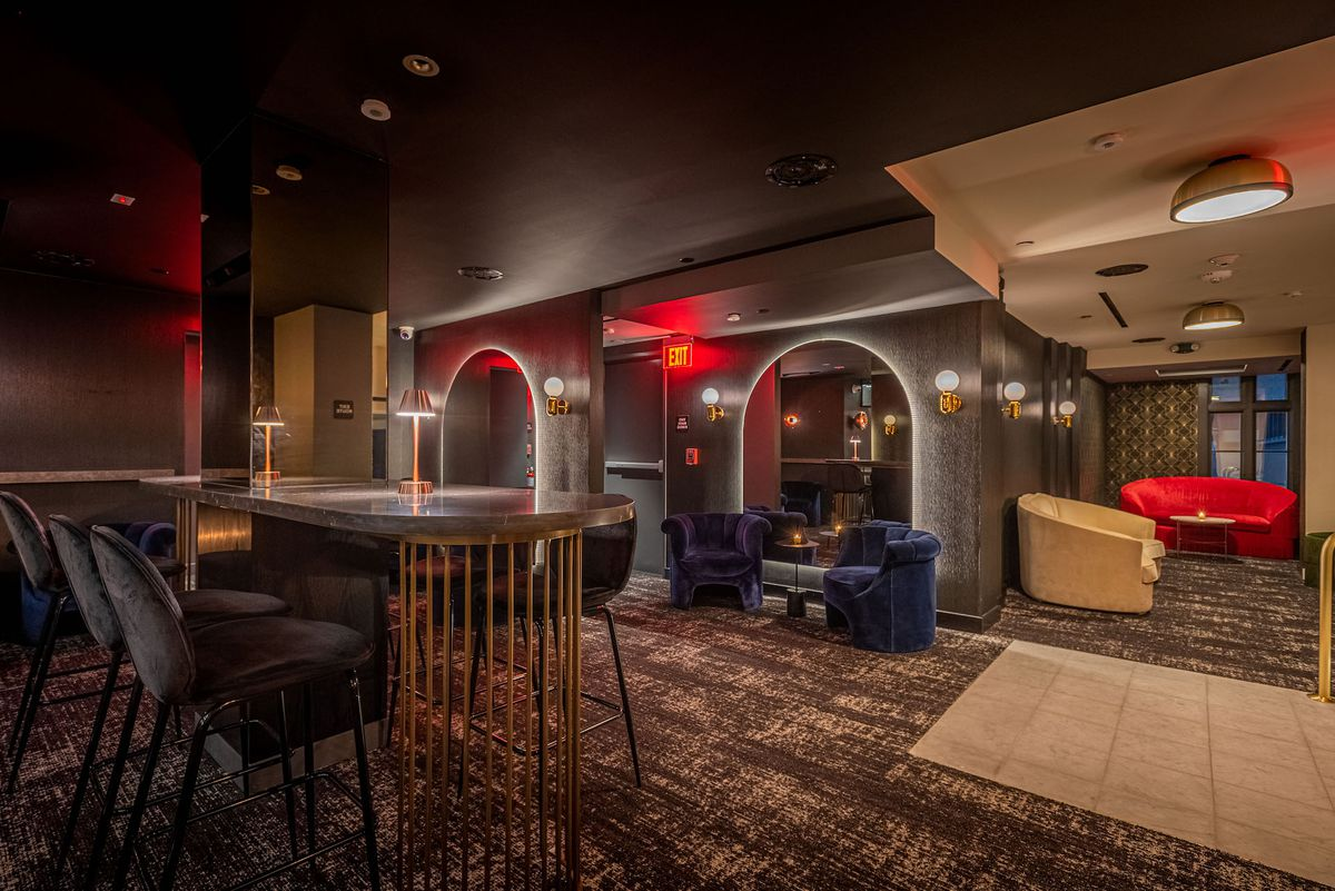 Intercrew lounge area in Koreatown, Los Angeles