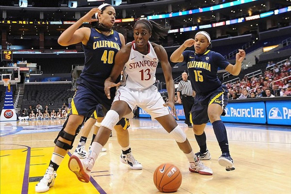 Cal and Stanford's overtime battle at Maples Pavilion last season went untelevised, but the Pac-12 Network might help to remedy that problem in the future. <em>Photo by Jayne Kamin-Oncea-US PRESSWIRE</em>