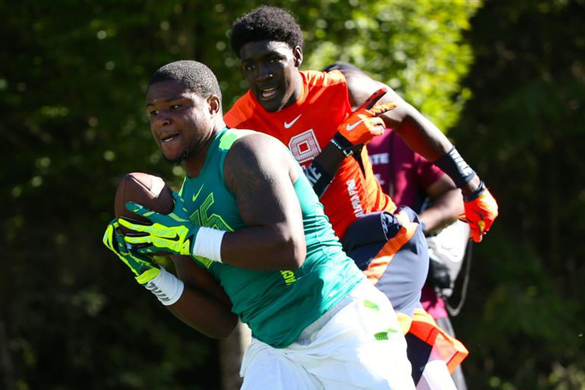 Mike Weber says he's still committed to Ohio State and will be despite Michigan's hiring of Jim Harbaugh.