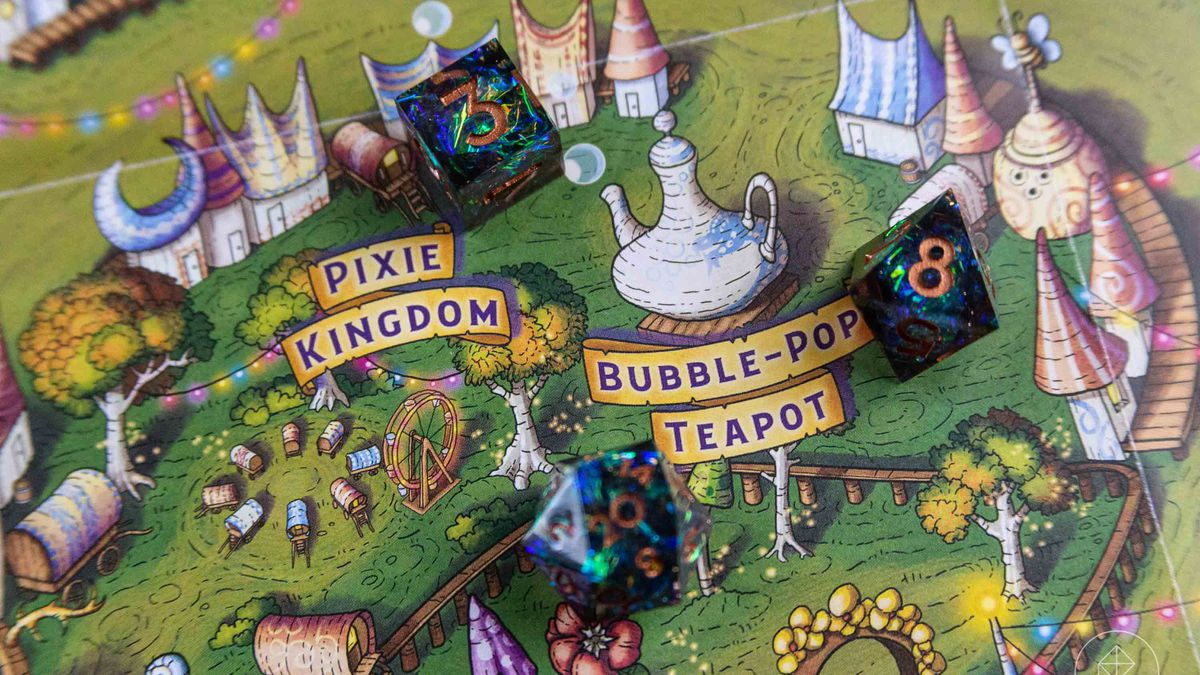 Detail of the Witchlight Carnival map from The Wild Beyond the Witchlight.