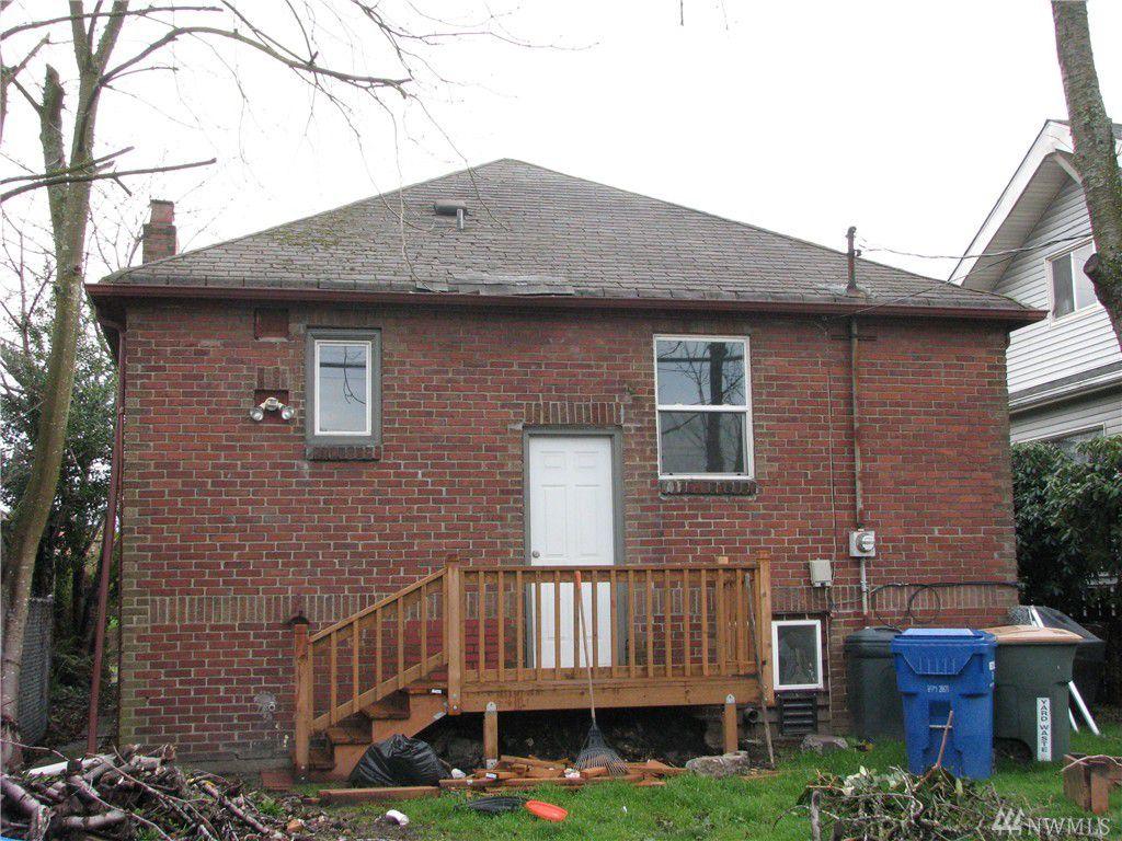 Back of a brick house