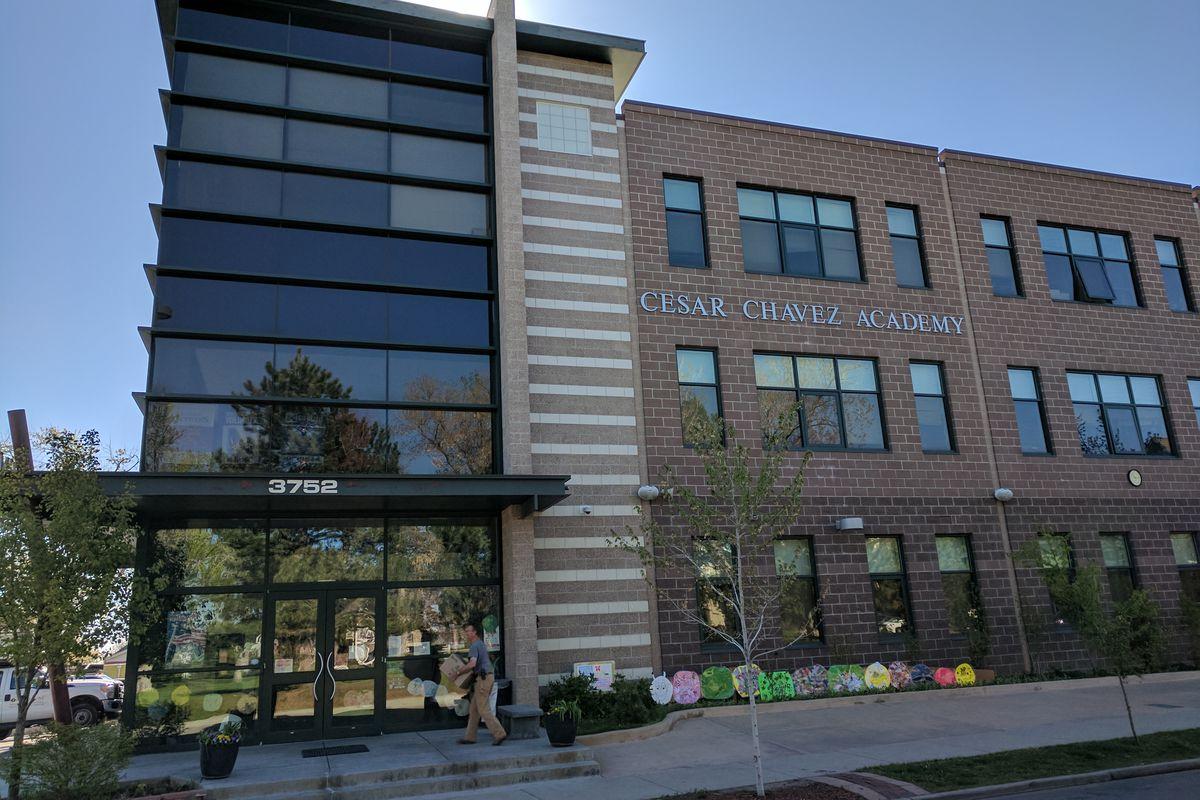 The future home of Rocky Mountain Prep elementary in northwest Denver (Eric Gorski, Chalkbeat).