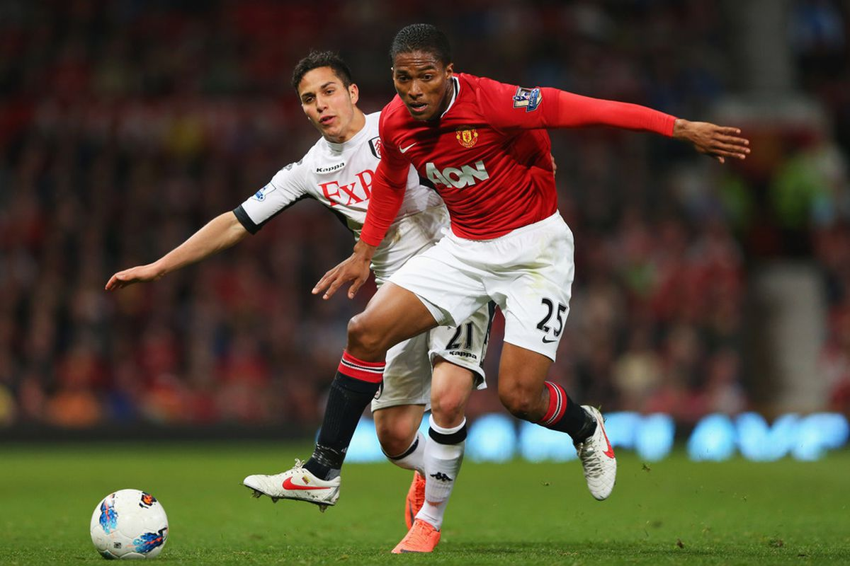 Antonio Valencia and Rafael pinned back their counterparts