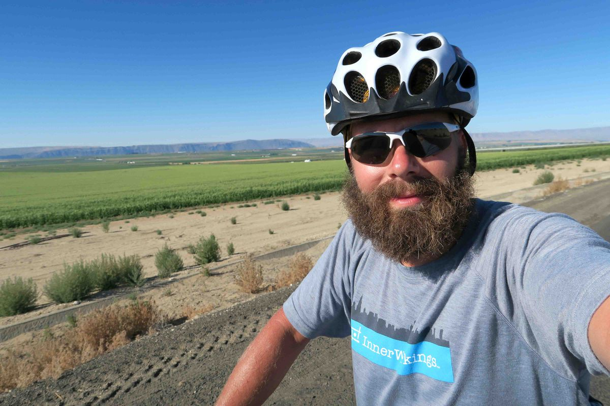 <small><strong> Jaik Smith, of Chicago, said his solo, cross-country bicycle ride gave him a new perspective on life. | Provided photo</strong></small>