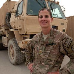 Maj. Choli Ence serves in Kandahar Airfield, Afghanistan.