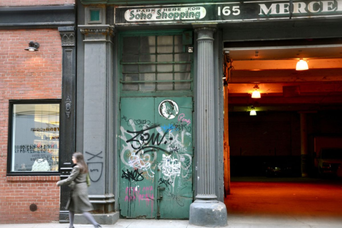 """""""Park Here for Soho Shopping"""" via <a href=""""http://www.flickr.com/photos/essgee/4408872548/in/pool-312691@N20"""">EssG</a>/Racked Flickr Pool"""