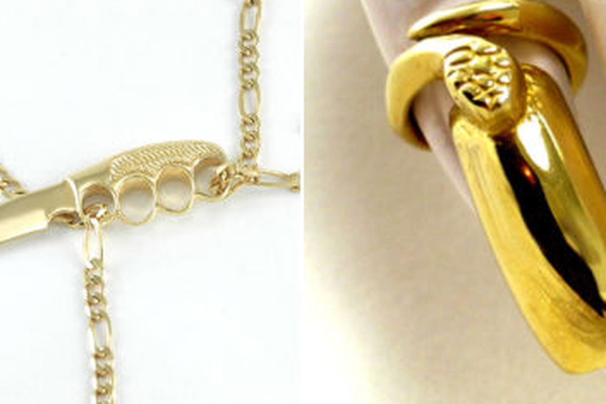 Body chain and nail ring from the Bijules collection