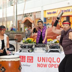 Drummers at the Hillsdale Uniqlo opening