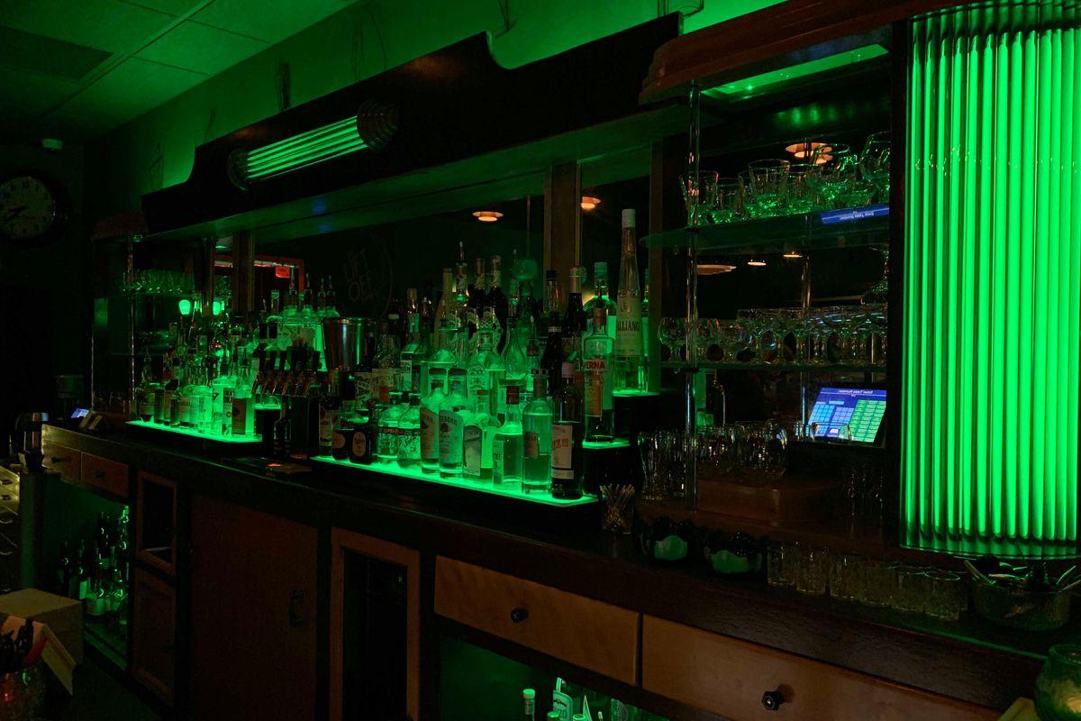 Lift Off Lounge's back bar