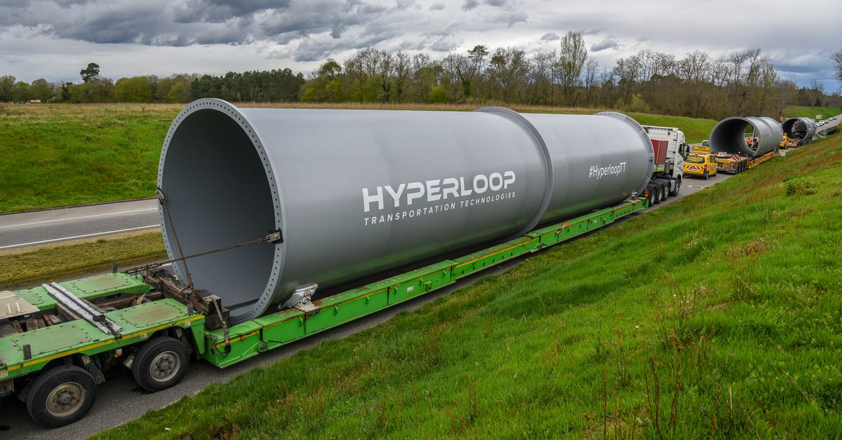 photo image World's third hyperloop test track is now under construction