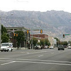 The downtown shopping district along Main Street in American Fork has seen better days with some of the buildings empty while others are being fixed up.