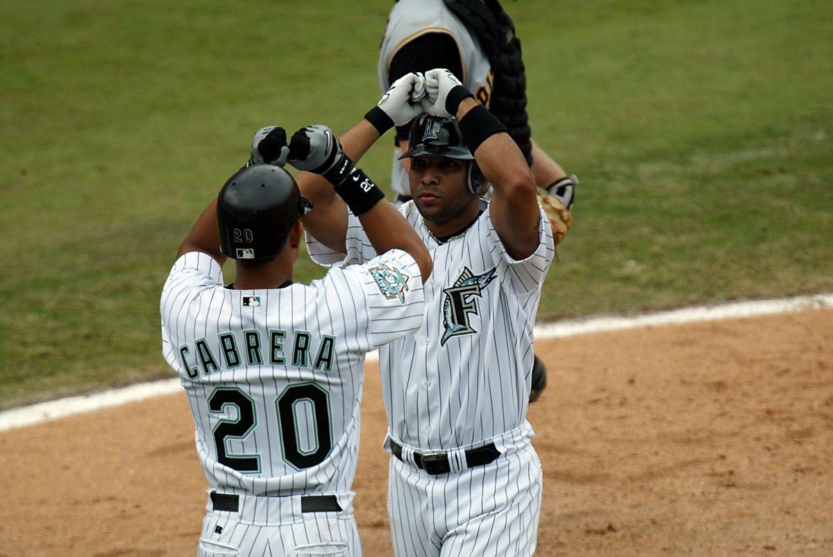 Alex Gonzalez celebrates his home run