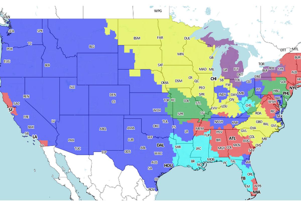 Denver Broncos vs. Arizona Cardinals: TV Broadcast Map ...