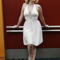 Sydney Mayhew attends Comic Con during the convention at the Salt Palace in Salt Lake City Friday, Sept. 5, 2014.