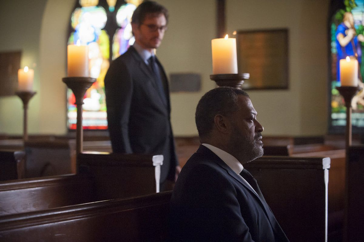 Will (Hugh Dancy) and Jack (Laurence Fishburne) come together for a very sad occasion on Hannibal.