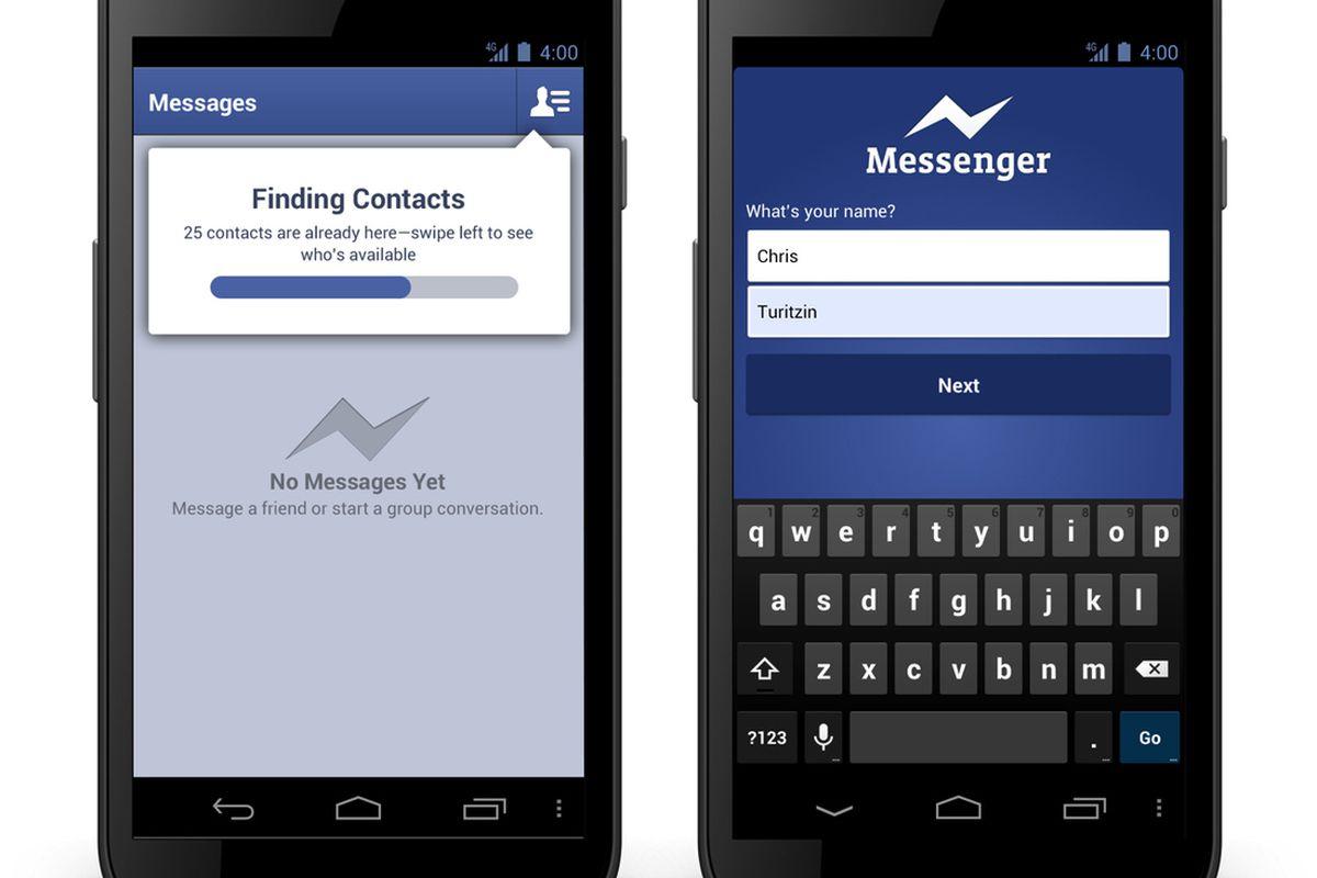 facebook messenger phone reg