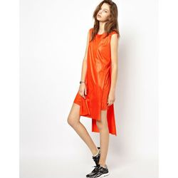 """<a href=""""http://www.asos.com/Cheap-Monday/Cheap-Monday-Shine-Dress-With-Drop-Hem/Prod/pgeproduct.aspx?iid=3583186&cid=13499&sh=0&pge=2&pgesize=204&sort=3&clr=Anarchy+red"""">Cheap Monday Shine Dress With Drop Hem</a>, $56.46 (was $75.28)"""