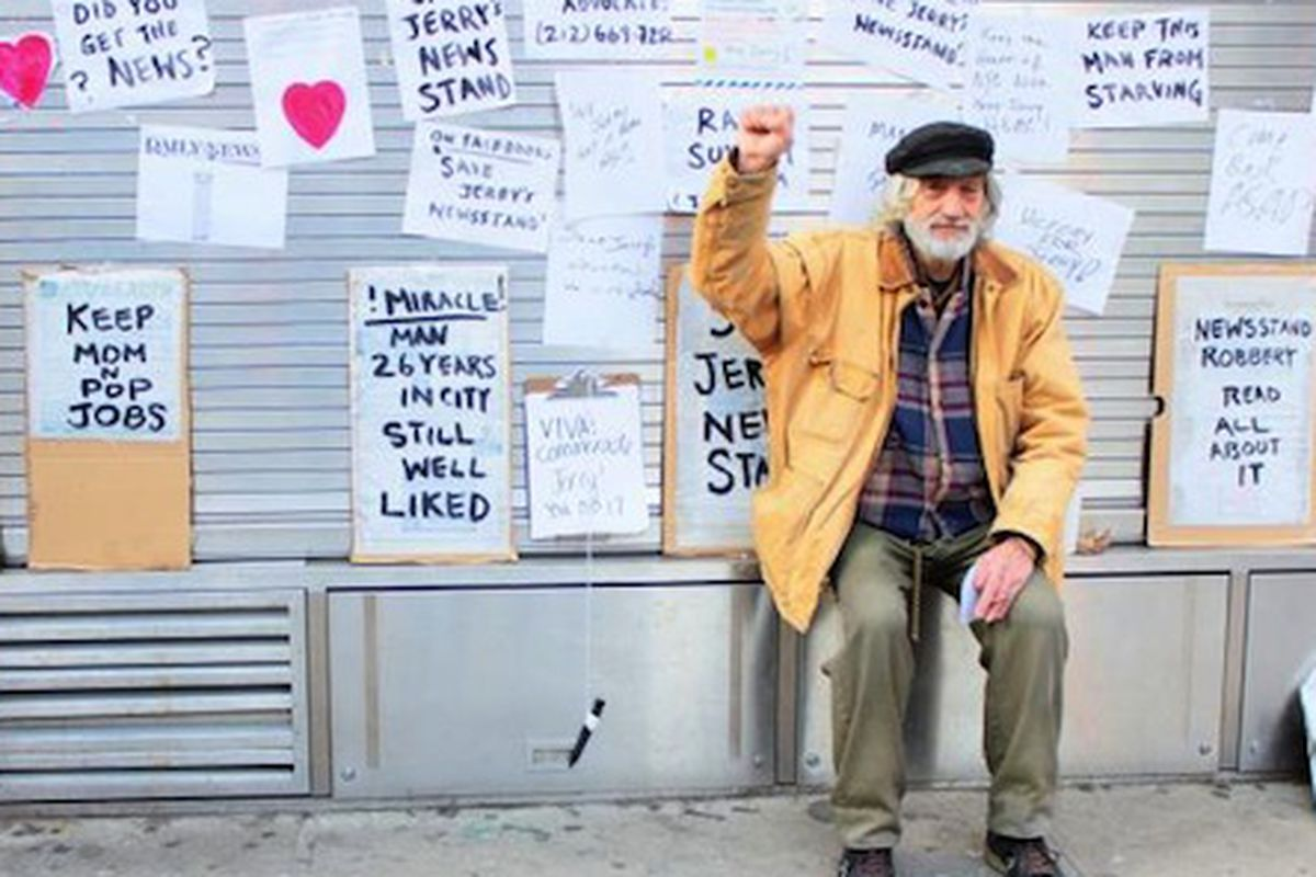 """Photo via <a href=""""http://www.dnainfo.com/new-york/20140113/east-village/ousted-astor-place-newsstand-operator-return-under-deal-with-city#"""">DNAinfo</a>"""