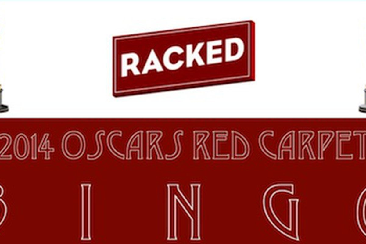 "View the full Bingo card <a href=""http://racked.com/uploads/2014_02_oscars-red-carpet-bingo-racked.jpg"">here</a>."