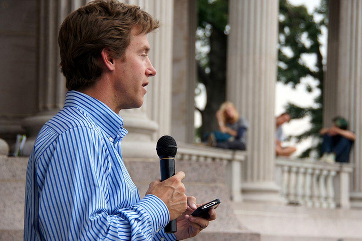 Sen. Mike Johnston speaks at a 2012 event.