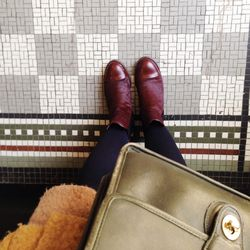 I'm photographing my friend Kimi today and matching my hallway tiles.