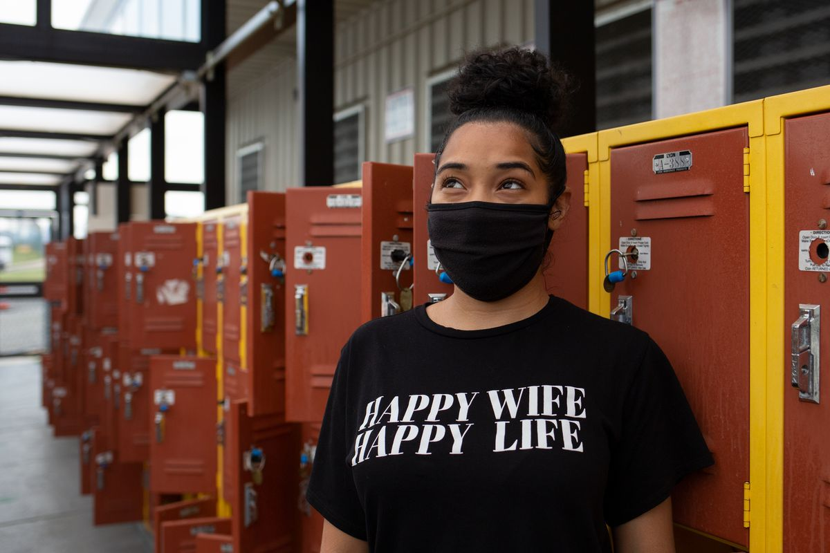 Stephanie Rivera was visiting her husband on Rikers Island for the second time since COVID restrictions were lifted, July 1, 2021.