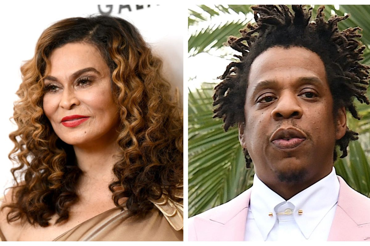 Tina Knowles-Lawson and JAY-Z